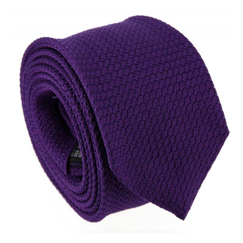 cravate grenadine de soie violette grenadines cravates homme. Black Bedroom Furniture Sets. Home Design Ideas
