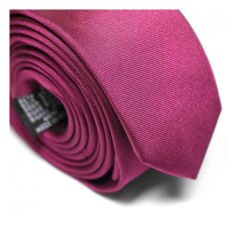 Cravate slim framboise - Sienne
