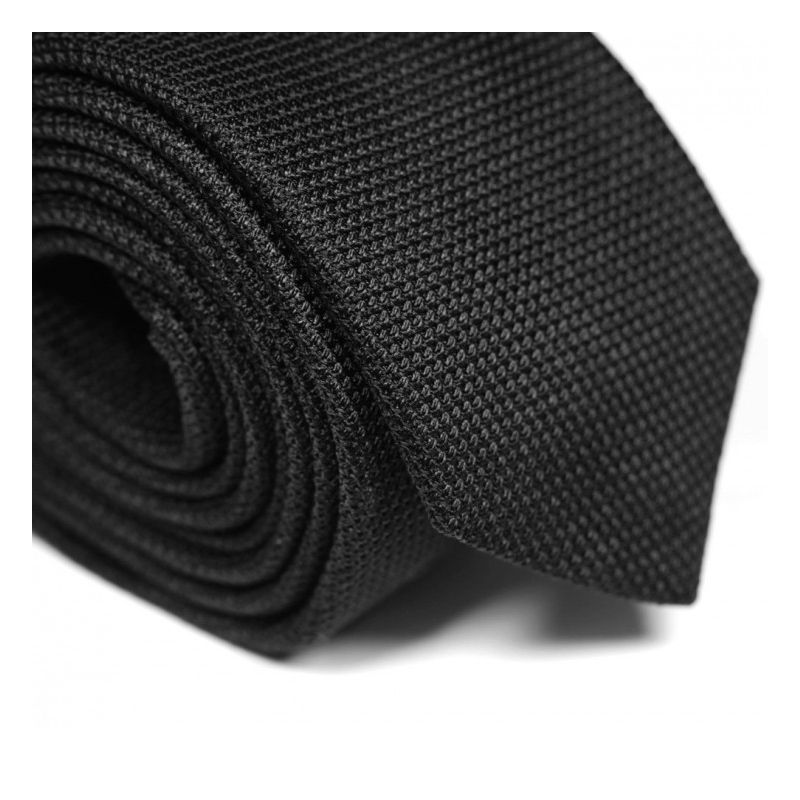Cravate grenadine de soie noire The Nines - Grenadines IV