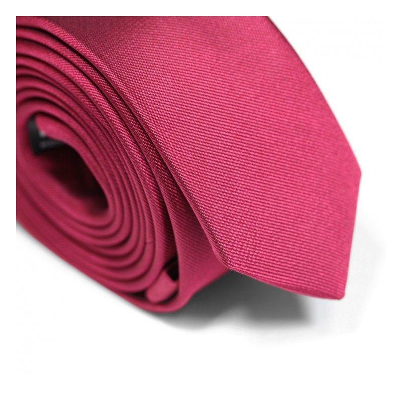 Cravate slim rouge grenadine - Sienne