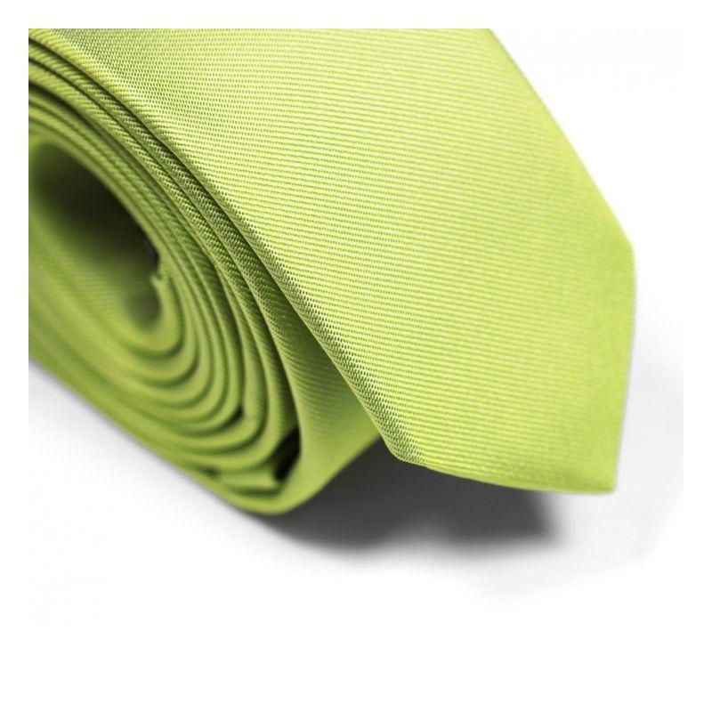 Cravate slim vert anis - Sienne