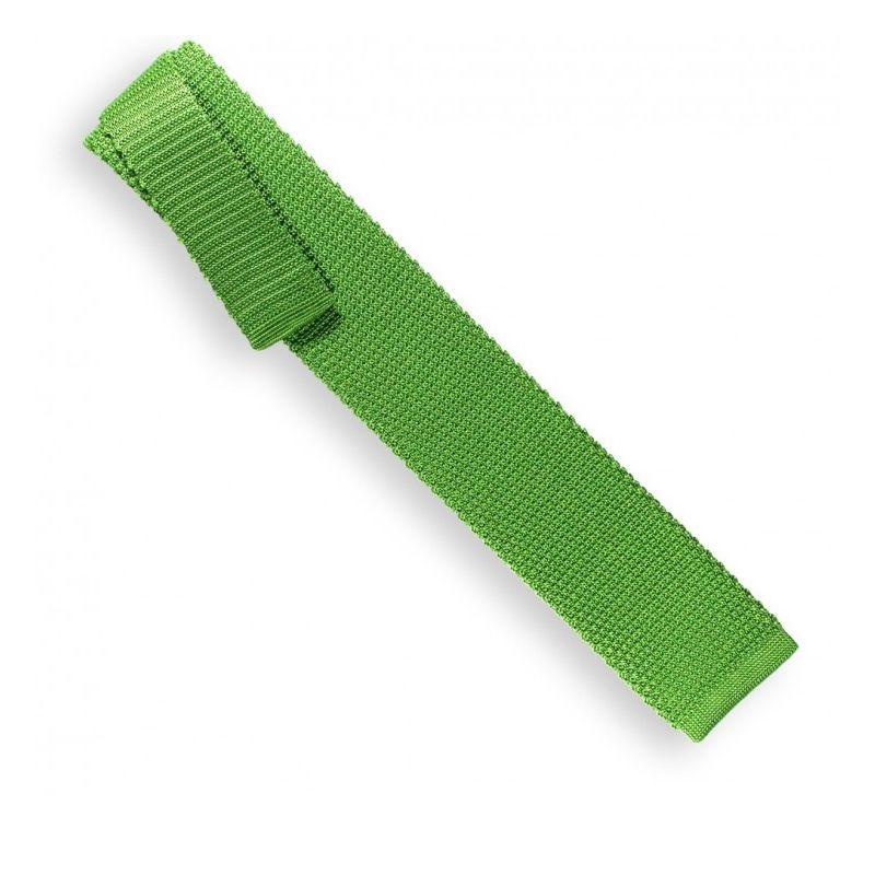 Cravate tricot vert pomme - Monza