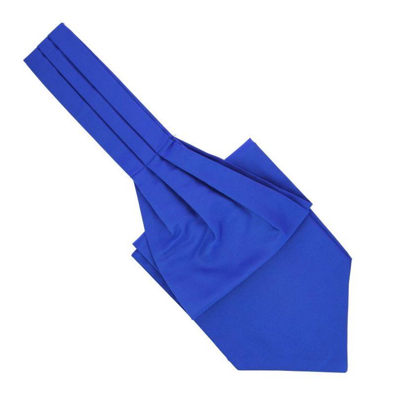 ascot bleu majorelle ascot ii cravate lavalliere maison de la cravate. Black Bedroom Furniture Sets. Home Design Ideas