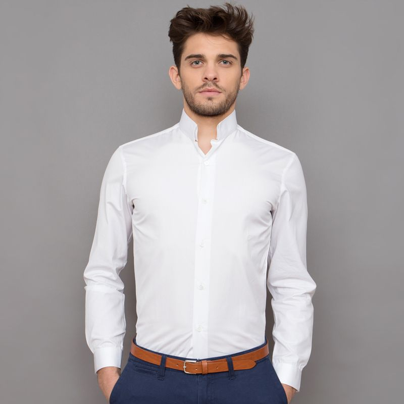 chemise blanche col inverse regular fit