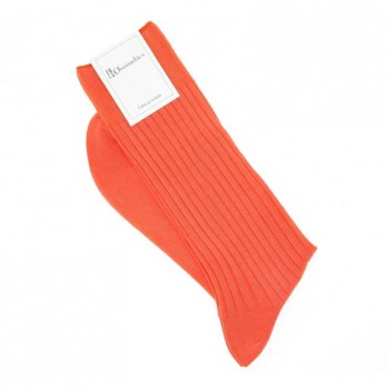 Chaussettes fil d'ɐcosse orange vitamine