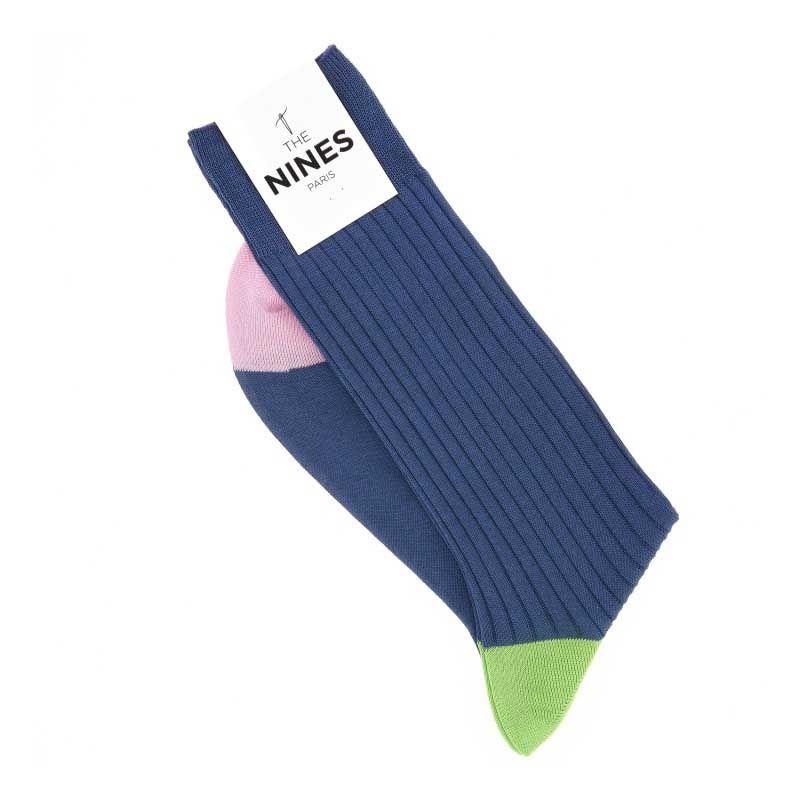 Chaussettes en fil d'Ecosse bleu foncé