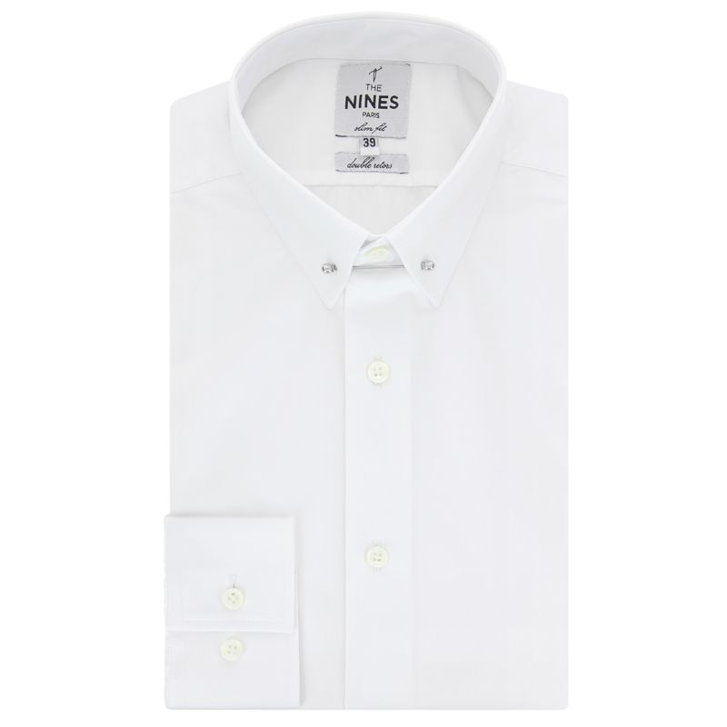 Chemise blanche col pin-collar coupe extra slim