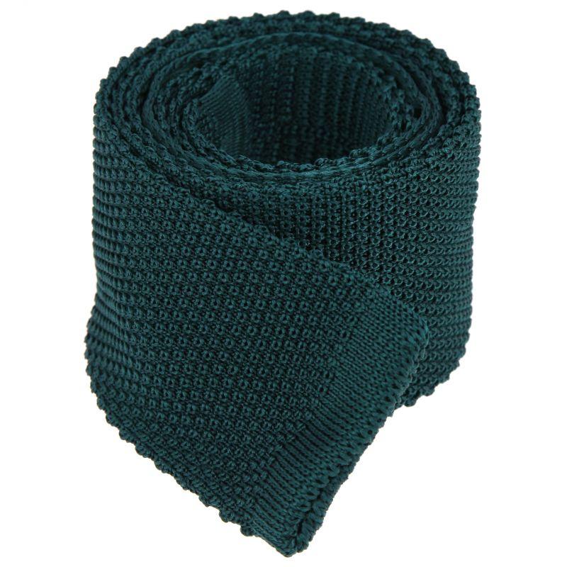 Cravate en tricot vert forêt - Monza