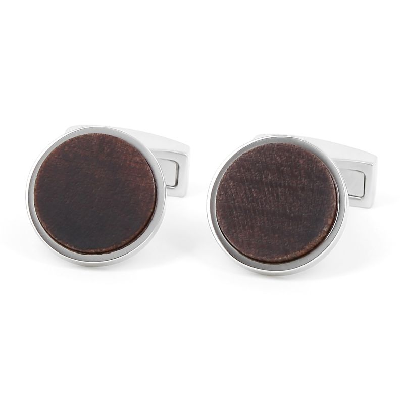 Boutons de manchette bois Black Walnut - Wynwood