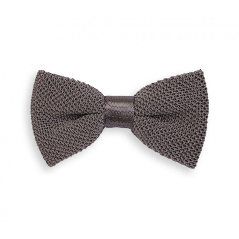 Noeud papillon gris en tricot de soie - Monza