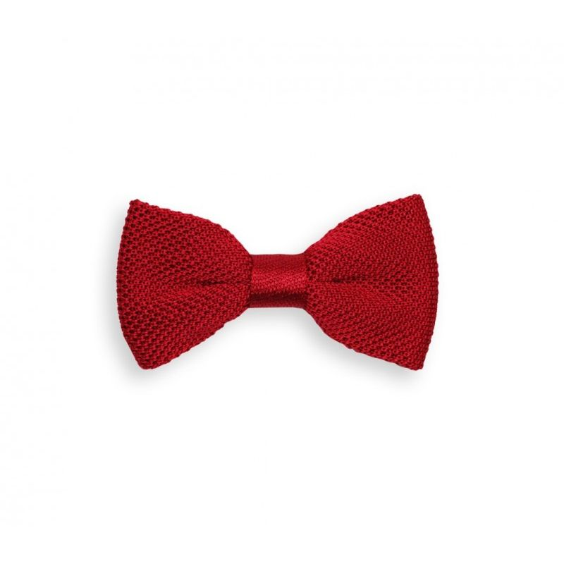 Noeud papillon rouge en tricot de soie - Monza