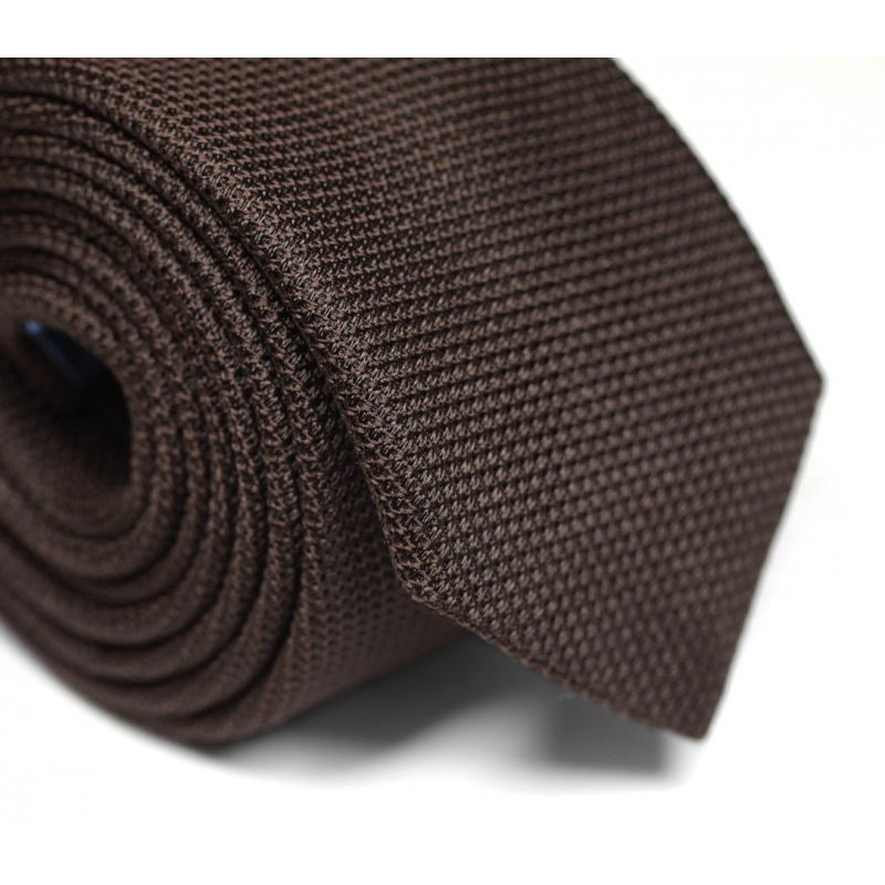 Cravate grenadine de soie marron The Nines  - Grenadines IV