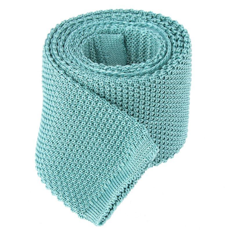 Cravate en tricot vert d'eau - Monza