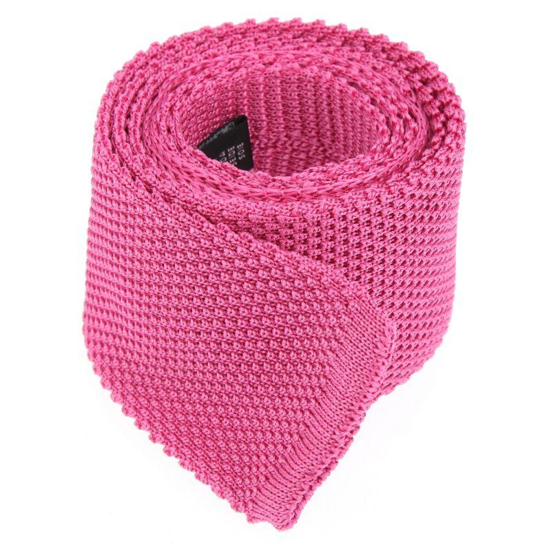 Cravate tricot rose vif The Nines