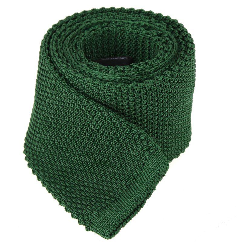 Cravate tricot vert foncé The Nines
