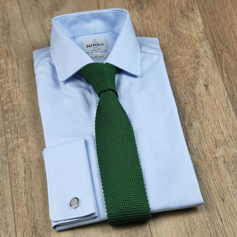 e01a672cf06c1 Cravate en tricot de soie vert foncé Monza - The Nines