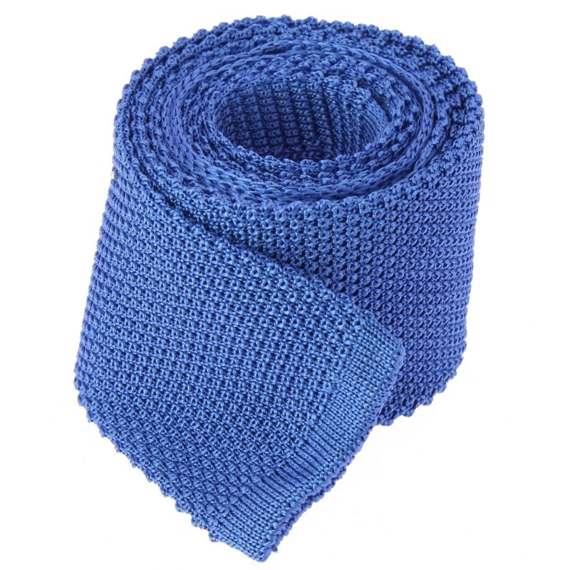 Cravate tricot bleu saphir The Nines