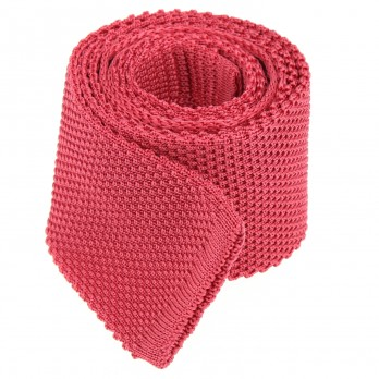 Cravate tricot rose corail - Monza