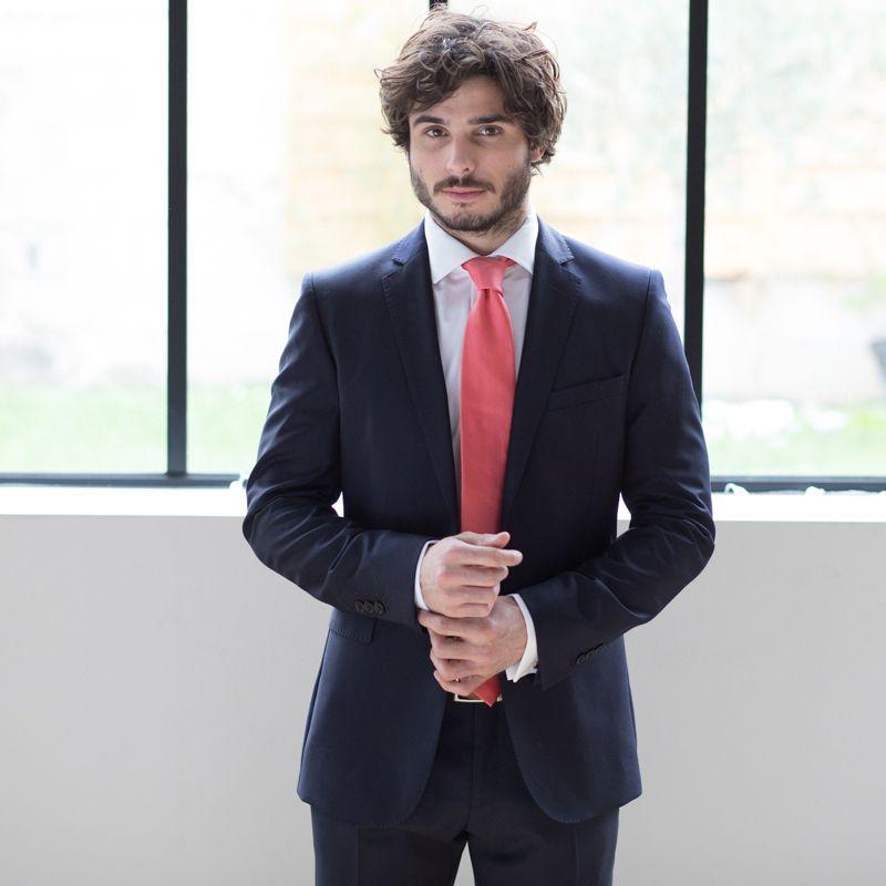 Cravate rose corail la maison de la cravate - La maison de la cravate ...