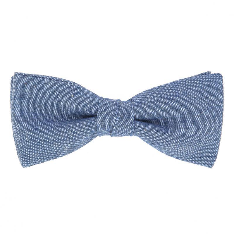 Nœud Papillon bleu en chambray The Nines
