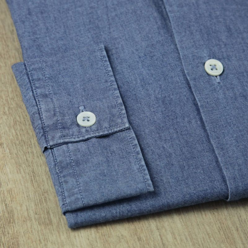 italien bleue col Chemise fit Nines chambray The en slim xwII14