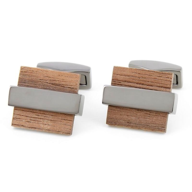 Boutons de manchette rectangulaires bubinga - Hirosaki