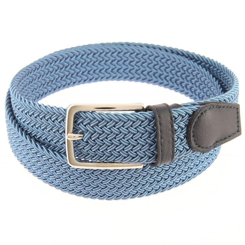 Ceinture élastique bleu et bleu marine - Rob III - Atelier de la ... 5774c211614