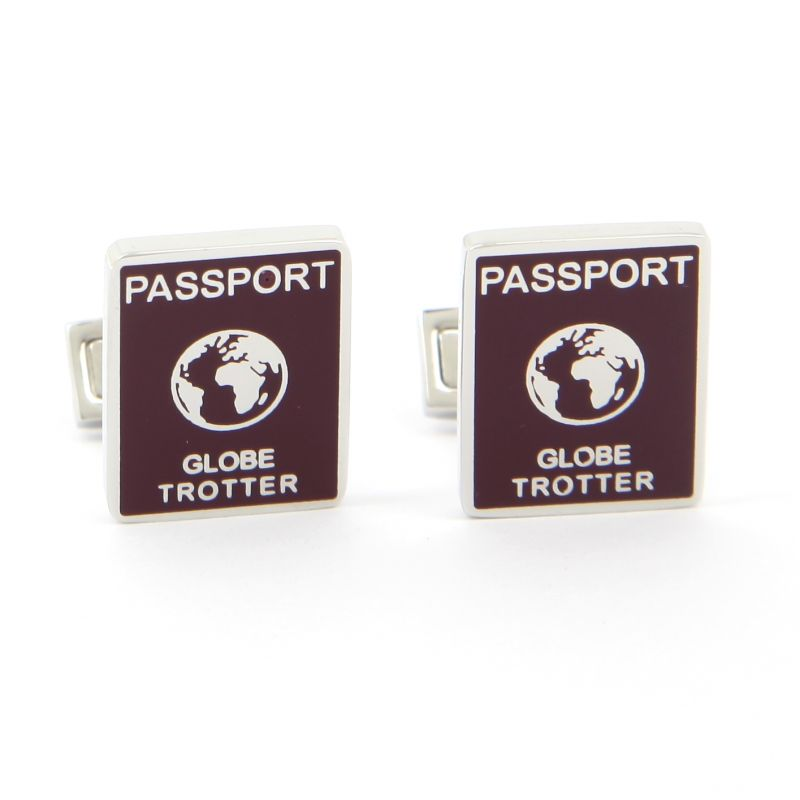 Boutons de manchette rectangle - Passeport