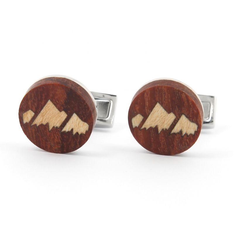 Boutons de manchette en bois - Monument Valley