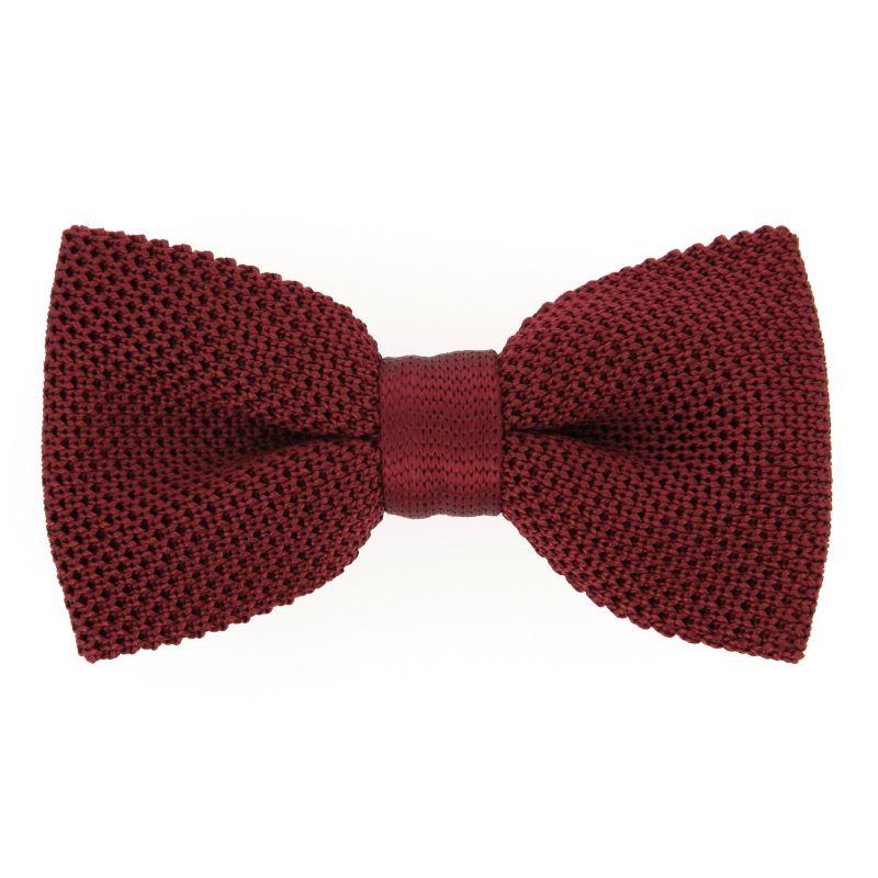 noeud papillon tricot bordeaux monza vente cravate maison de la cravate. Black Bedroom Furniture Sets. Home Design Ideas