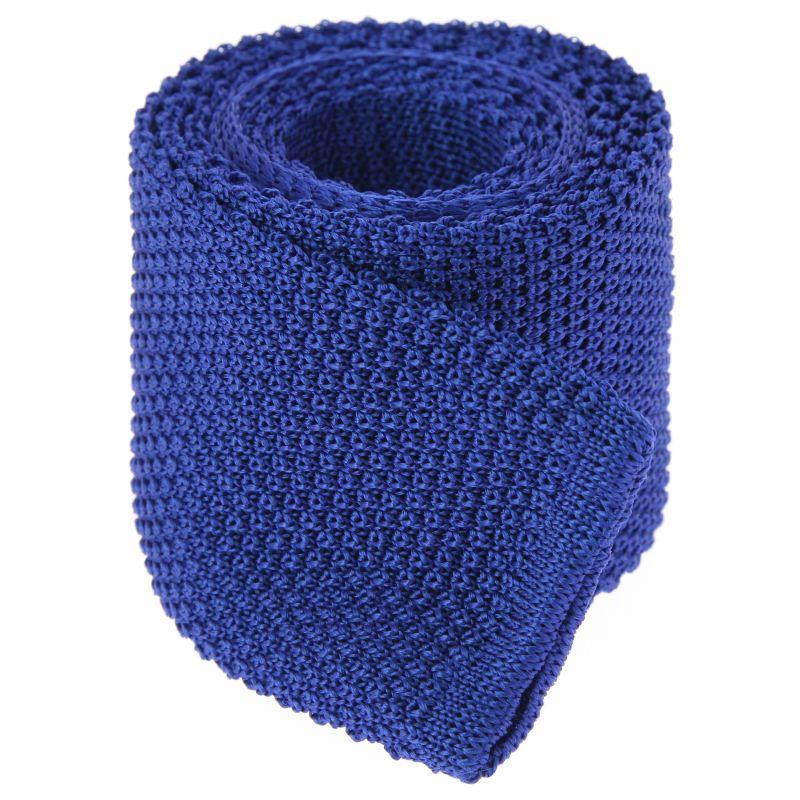 Cravate tricot bleu électrique - Monza