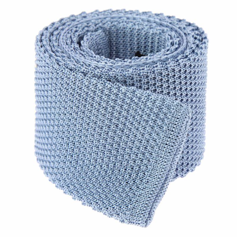 Cravate tricot bleu ciel - Monza