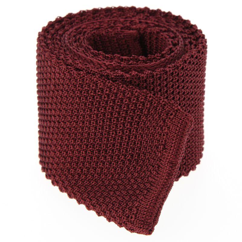 Cravate en tricot bordeaux - Monza