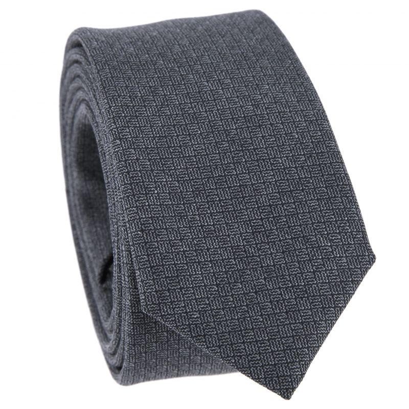 Cravate fine noire femme