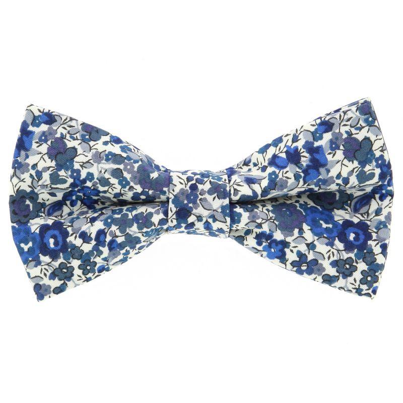 Nœud Papillon bleu marine à fleurs Liberty The Nines