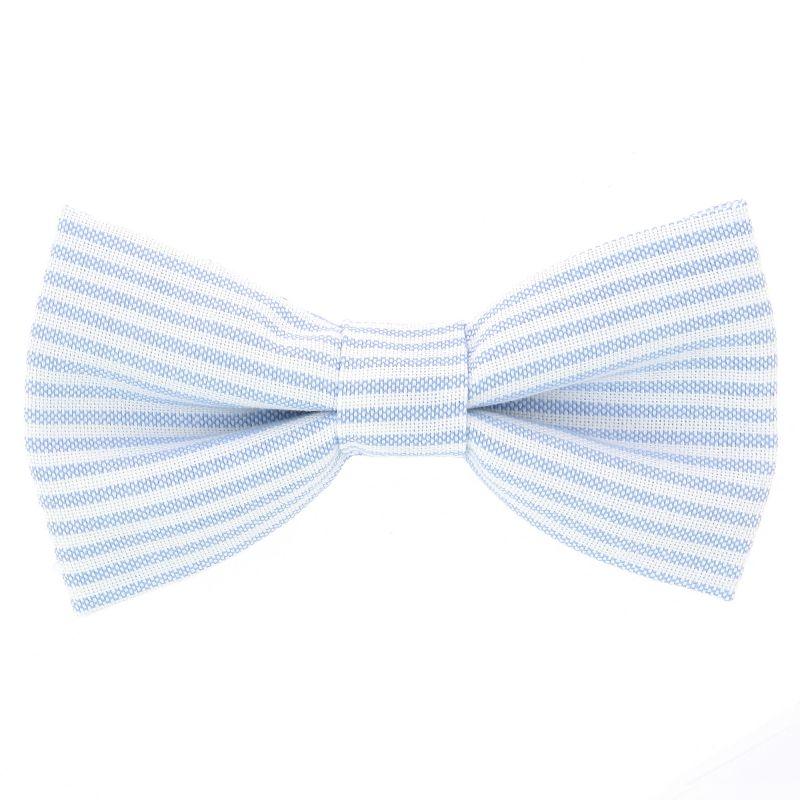 Nœud Papillon à rayures bleu ciel en coton oxford pinpoint The Nines