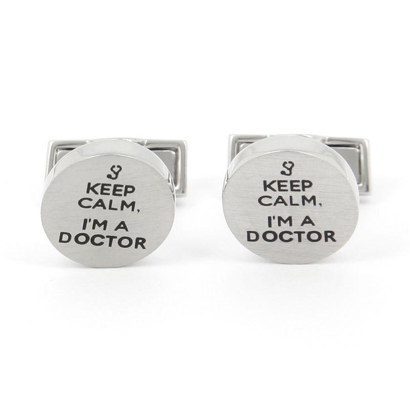 Boutons de manchette Keep Calm I'm a Doctor