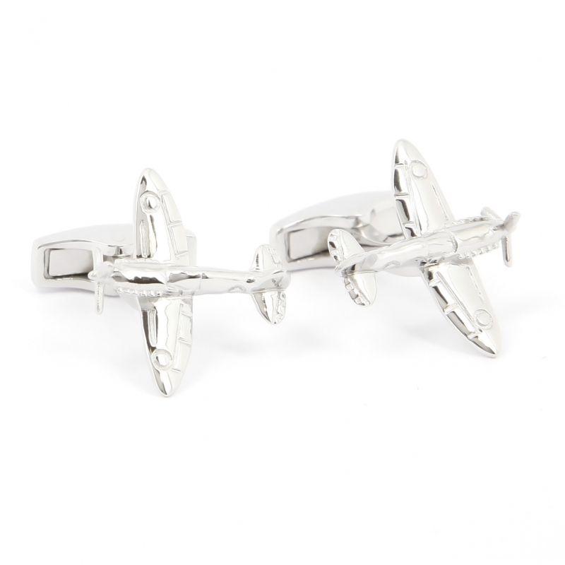 Boutons de manchette avion argent massif - Spitfire