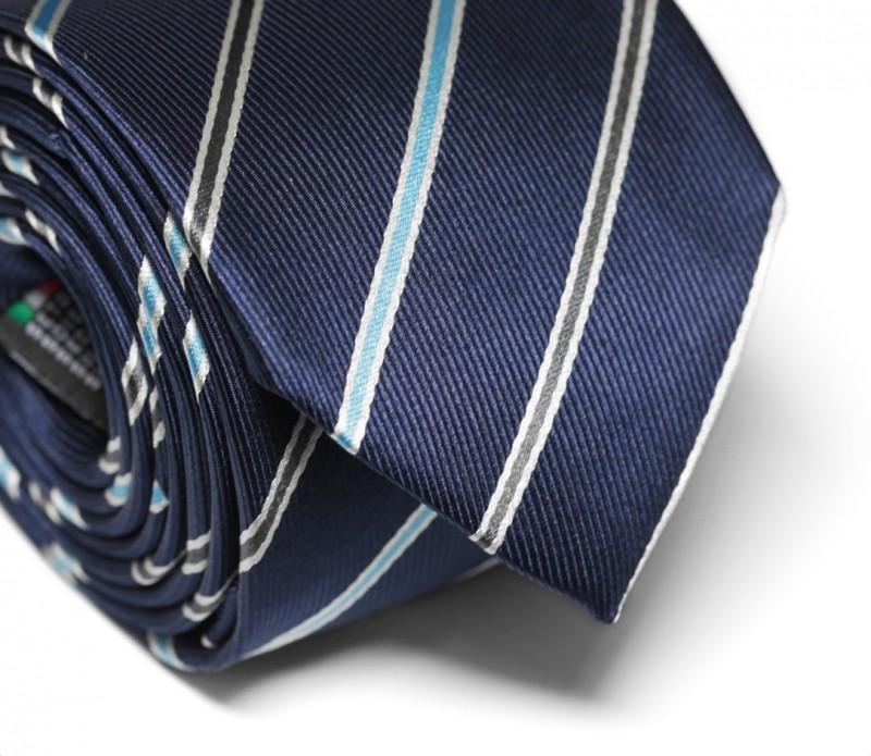 cravate bleu marine rayures gris anthracite et bleu ciel. Black Bedroom Furniture Sets. Home Design Ideas
