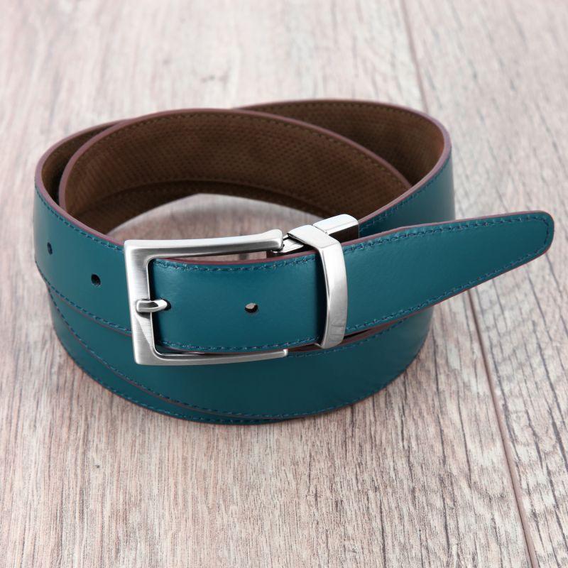 f6a395442953 new  new  ceinture-reversible-cuir-bleu-petrole-nubuck-marron-barry  new ...