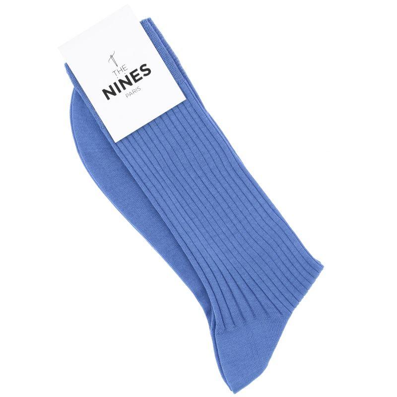 Chaussettes fil d'Écosse bleu ciel
