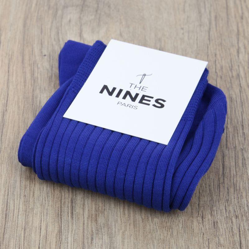 chaussettes en fil d 39 cosse bleu lectrique the nines. Black Bedroom Furniture Sets. Home Design Ideas