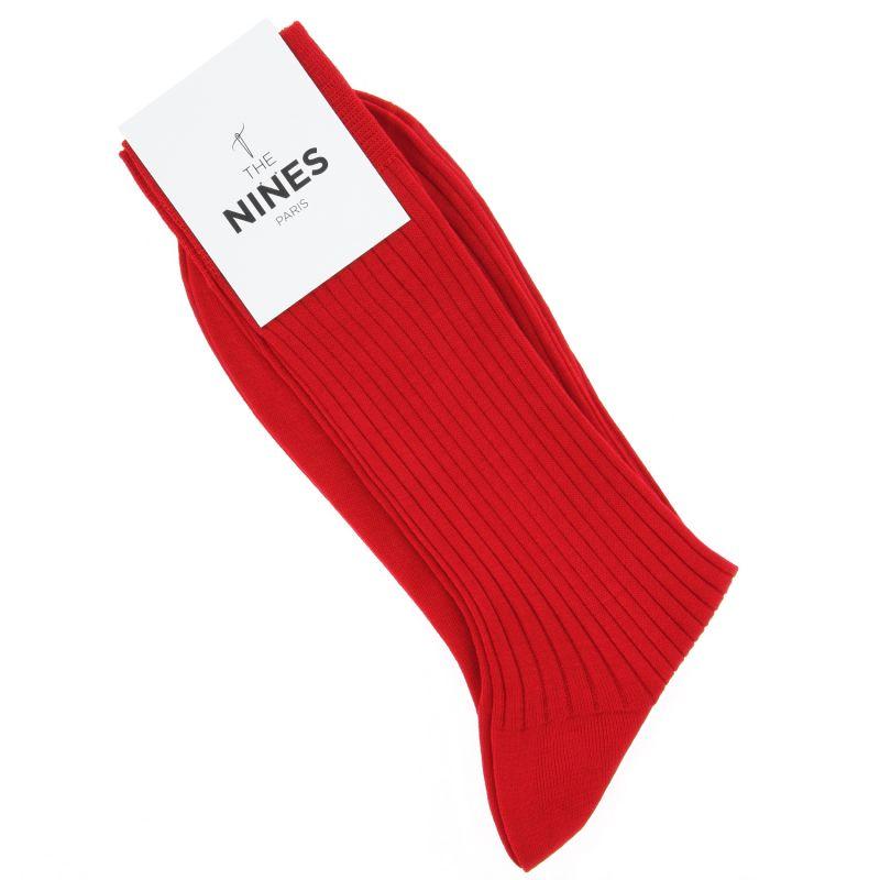 Chaussettes fil d'Écosse rouge passion