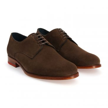Derby en veau velours marron