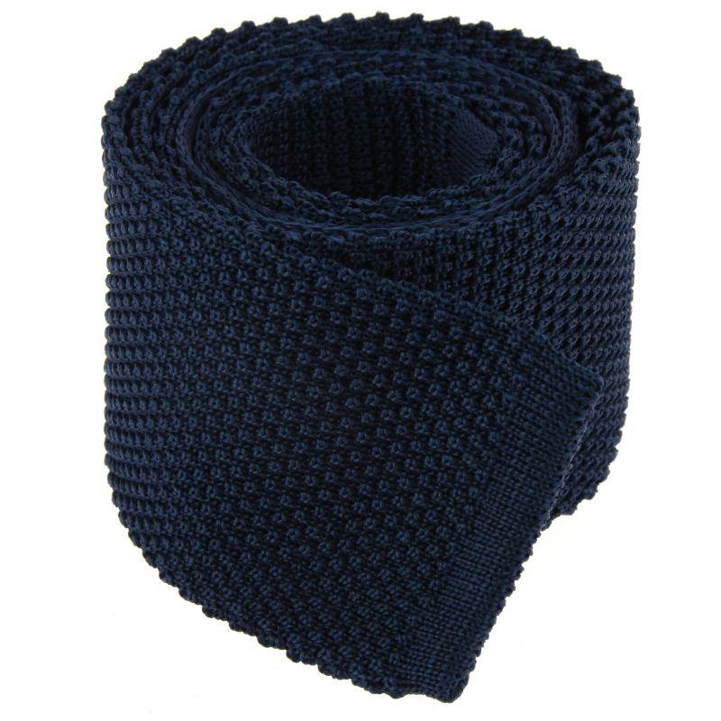 Cravate tricot bleu marine - Monza