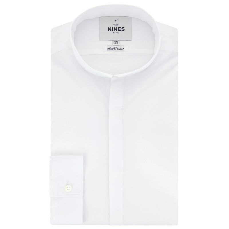 Chemise blanche col inverse coupe extra slim