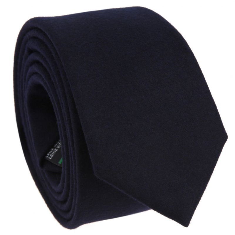 Cravate bleu marine en flanelle