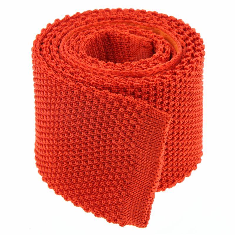 Cravate tricot orange - Monza