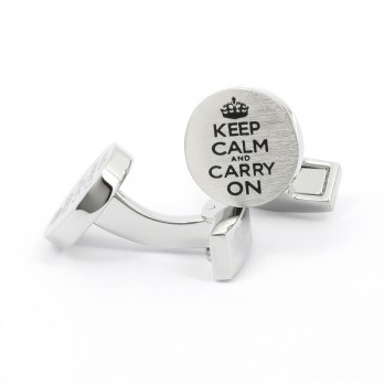 Boutons de manchette Keep Calm and Carry On