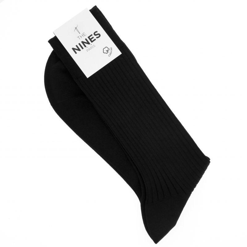 Chaussettes noires en coton du Nil bio